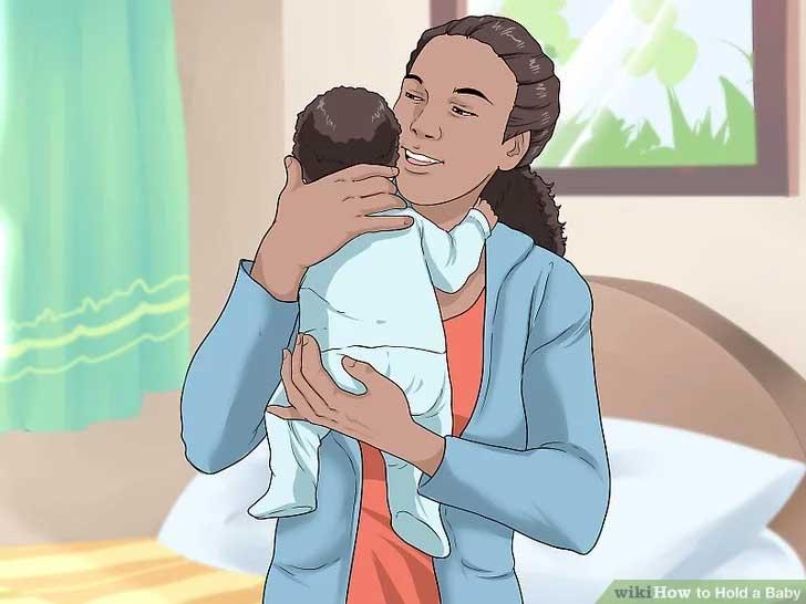 Støtt hodet til babyen